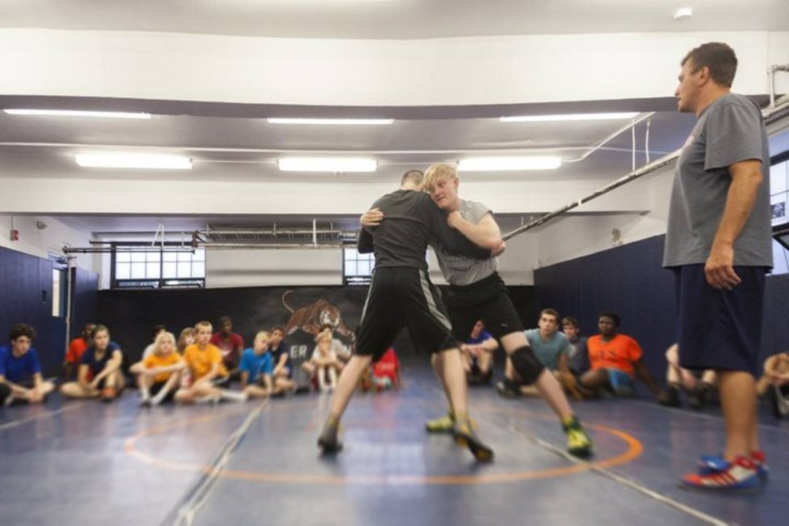 Wrestling camp offers lessons about character, life